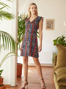 Červeno-modré vzorované šaty Trendyol - XS