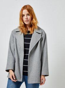 Šedý krátký kabát Dorothy Perkins - S