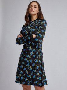 Černé květované šaty Dorothy Perkins - S