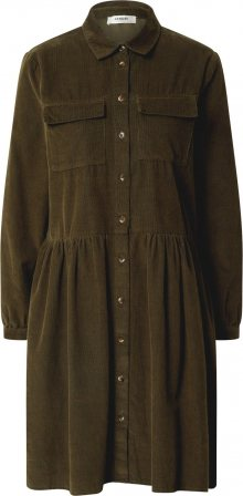 MOSS COPENHAGEN Košilové šaty \'FREA\' olivová