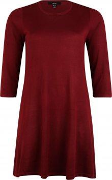 Vero Moda Curve Šaty \'Felicity\' vínově červená