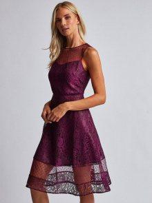 Vínové krajkové šaty Dorothy Perkins - XXL