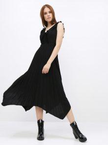 Černé šaty s plisovanou sukní Dorothy Perkins - XS