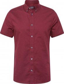 BURTON MENSWEAR LONDON Košile \'OXFORD\' burgundská červeň