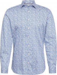 OLYMP Košile \'Level 5 Smart\' modrá / bílá