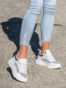 Jedinečné dámské  tenisky bílé bez podpatku 37