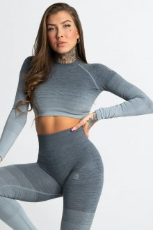 Gym Glamour Crop-Top Sea Ombre M