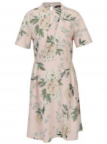Zeleno-růžové šaty s volánem Dorothy Perkins