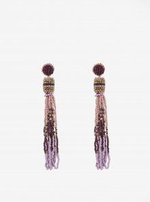 Fialové korálkové náušnice Pieces Venice