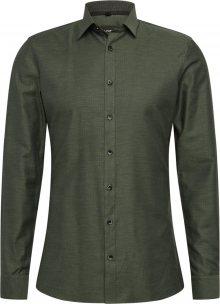OLYMP Košile \'No. 6 Fischgrad\' olivová