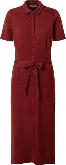 King Louie Košilové šaty \'Rosie\' burgundská červeň