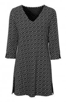 Tunika z úpletu s drobným vzorem / černá/se vzorem