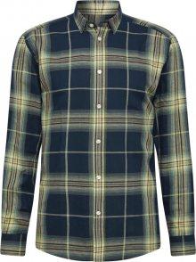 minimum Košile \'Medin 7298\' tmavě modrá / žlutá / světlemodrá