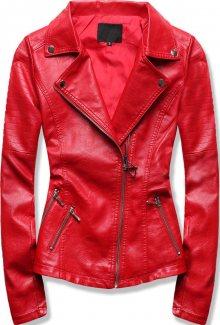 MODOVO Dámská koženková bunda červená