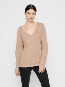 Béžový svetr Pieces Babett
