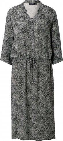 SOAKED IN LUXURY Šaty \'Zaya\' černá / šedá