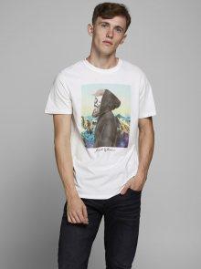 Bílé tričko Jack & Jones Orskulling