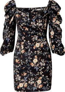 Missguided Šaty černá / mix barev