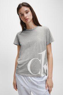Calvin Klein šedé tričko S/S Crew Neck - XS