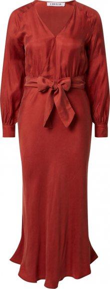 EDITED Šaty \'Alencia\' oranžově červená