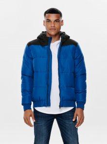 Modrá prošívaná bunda ONLY & SONS Boston