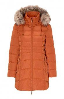 Zateplená bunda s odnímatelnou kapucí / rezavá