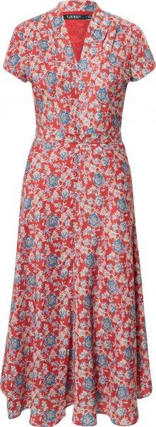 Lauren Ralph Lauren Šaty \'Amit\' červená / béžová / modrá