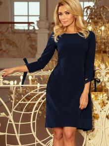 Tmavě modré šaty numoco - S