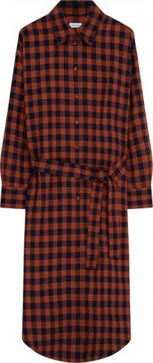 SEIDENSTICKER Košilové šaty oranžová / černá