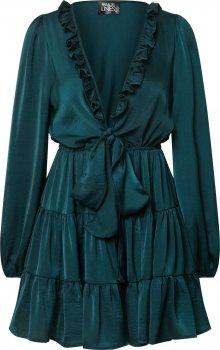 Parallel Lines Šaty smaragdová