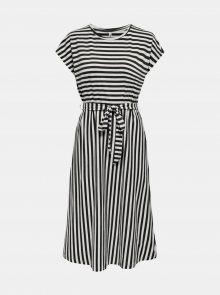 Bílo-černé pruhované šaty ONLY Happy - L