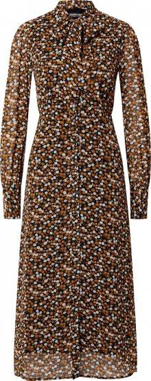 Fashion Union Šaty \'Perrian\' mix barev / hnědá