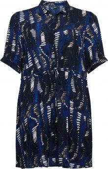Zizzi Košilové šaty \'Cristel\' černá / tmavě modrá / bílá