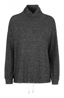 Super měkký pulovr / antracitový melír