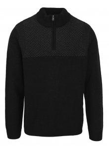 Šedo-černý svetr se stojáčkem Burton Menswear London