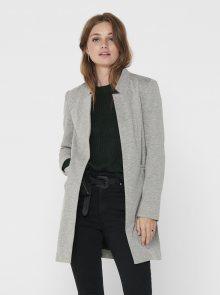Světle šedý lehký kabát ONLY Penny - XS