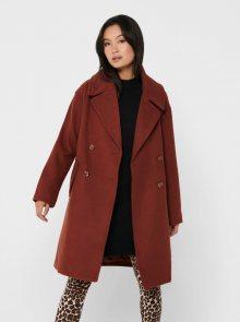 Hnědý kabát Jacqueline de Yong Storm - XS