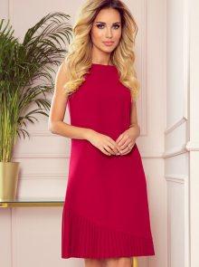 Červené šaty numoco - S
