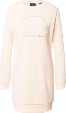 Superdry Úpletové šaty světle růžová