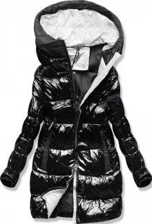 MODOVO Zimní bunda s barevnou podšívkou černo-šedá
