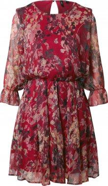 VERO MODA Šaty červená třešeň / mix barev