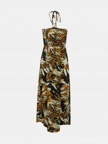 Hnědé vzorované šaty ONLY Libby - XS
