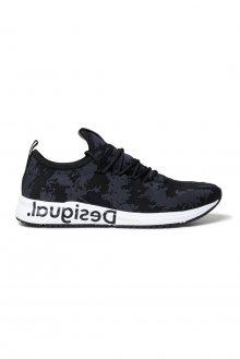 Desigual černé tenisky Shoes Runner Knit Sock Low - 39