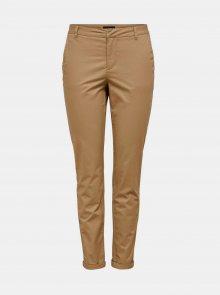 Světle hnědé chino kalhoty ONLY Biana - XXL