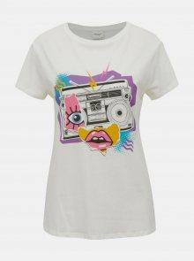 Bílé tričko Jacqueline de Yong Brenda - S