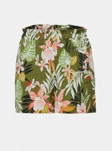 Khaki květované kraťasy ONLY Lizbeth - XS