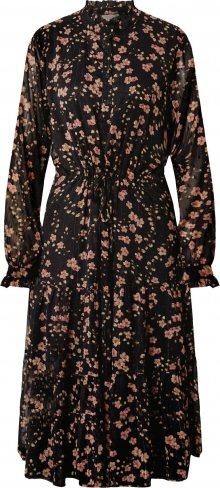 ICHI Košilové šaty \'Ixlia\' pink / černá / béžová