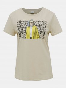 Béžové tričko Jacqueline de Yong Brenda - XS