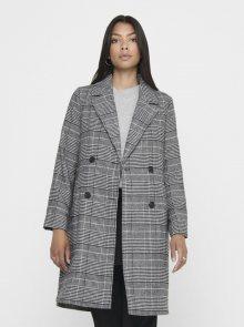 Šedý kostkovaný lehký kabát ONLY Arabella - XS