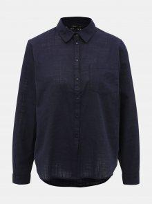 Tmavě modrá košile s krajkou ONLY Jeanette - XS